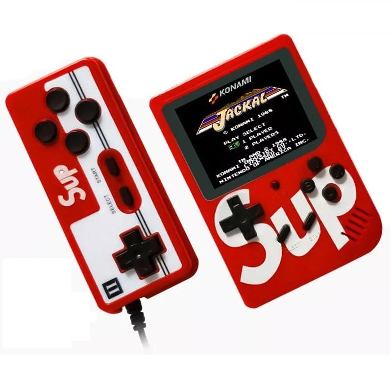 Портативная игровая ретро приставка 400 игр Dendy Sega 8bit Sup Game Box Красная 154521