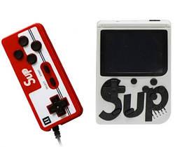 Портативная ретро консоль MHZ GAME SUP 6927, белая с красным джойстиком, 400 8-битных игр