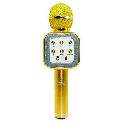 Микрофон караоке беспроводной Wster WS1818 Золото 151124