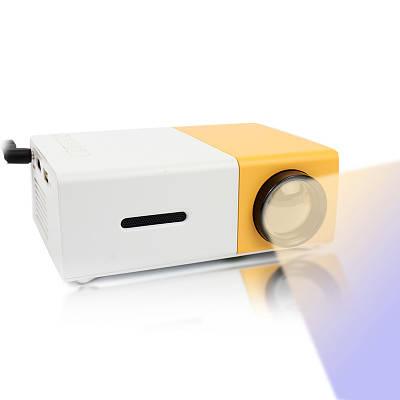 Мини проектор портативный Led Projector YG300 мини мультимедийный с динамиком 138894