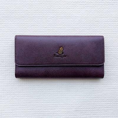 Женский клатч портмоне кошелек Pineapple бордовый 130375