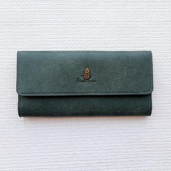 Женский клатч портмоне кошелек Pineapple зеленый 180961