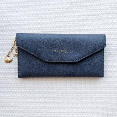Женский клатч портмоне кошелек с цепочкой Love Yourself Серый 130383