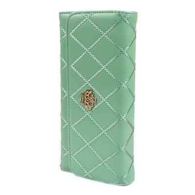 Женский клатч с короной стеганый Crown зеленый 140127