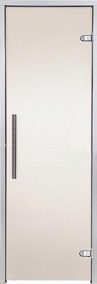 Стеклянная дверь для хамама GREUS Premium 80/200 бронза матовая