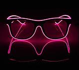 Окуляри NEON прозорі El Neon pink + Годинник, фото 3