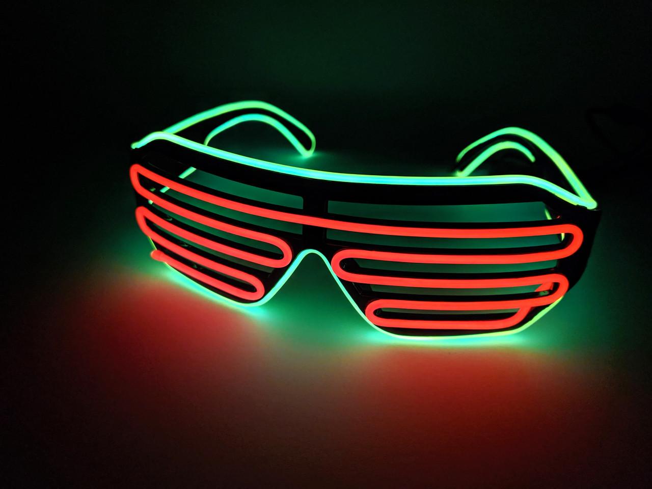 Светодиодые окуляри світяться в темряві зелений помаранчевий