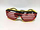 Светодиодые окуляри світяться в темряві зелений помаранчевий, фото 2