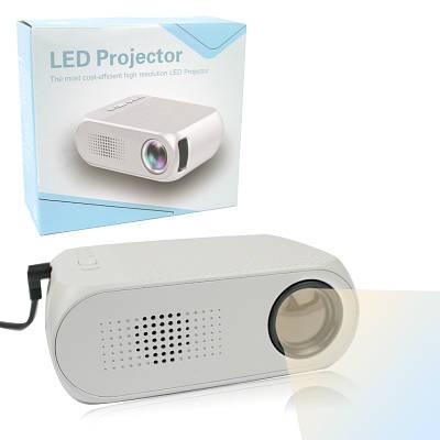 Портативный проектор Led Projector YG320 мини с динамиком Белый 138979