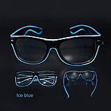 Окуляри NEON прозорі El Neon ray ice blue + Годинник, фото 3