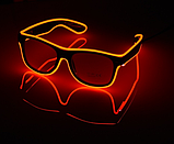 Окуляри NEON прозорі El Neon red + Годинник, фото 2