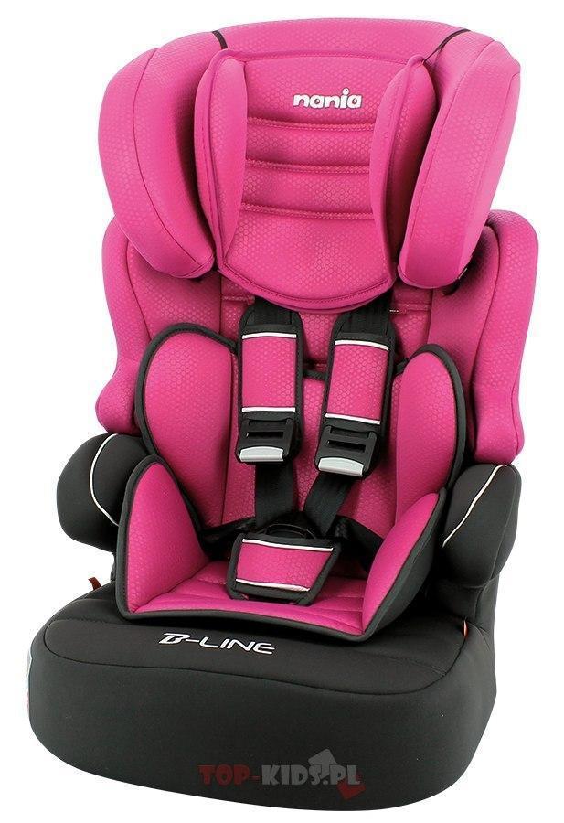 Автокрісло Nania Beline Sp Luxe Grey (9-36 кг) Black Pink