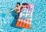 Надувний матрац для плавання Intex 58772 (178х84 см) Натхнення Рожевий, фото 2