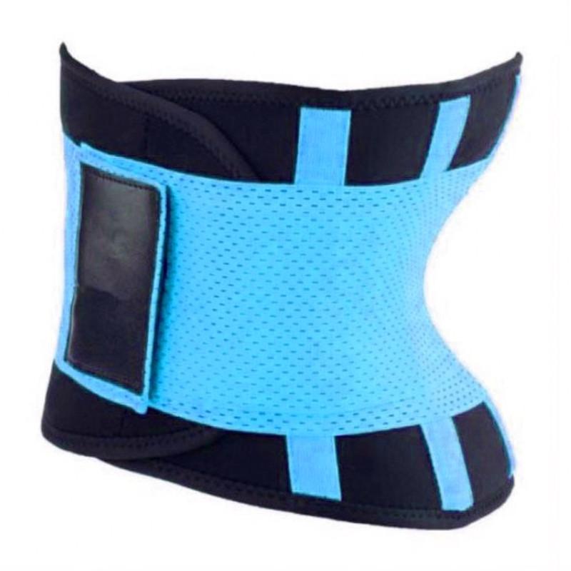 Пояс для похудения Hot Shapers Belt Power на липучке голубой, размер L 141095