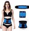 Пояс для схуднення Hot Shapers Power Belt на липучці блакитний, розмір L 141095, фото 4
