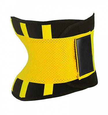 Пояс для похудения Hot Shapers Belt Power на липучке желтый, размер L 141298
