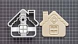 Новогодняя 3D формочка Домик   Новогодняя вырубка   Вырубка для печенья новогодняя, фото 2