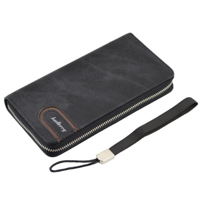 Мужское портмоне кошелек Baellerry S1514 Чёрный