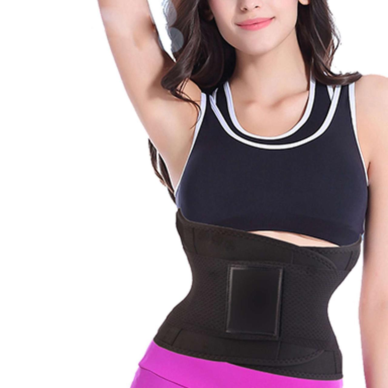Пояс для похудения Hot Shapers Belt Power на липучке черный, размер XL 142051