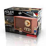 Радіоприймач Retro з Bluetooth Adler AD 1171, фото 4