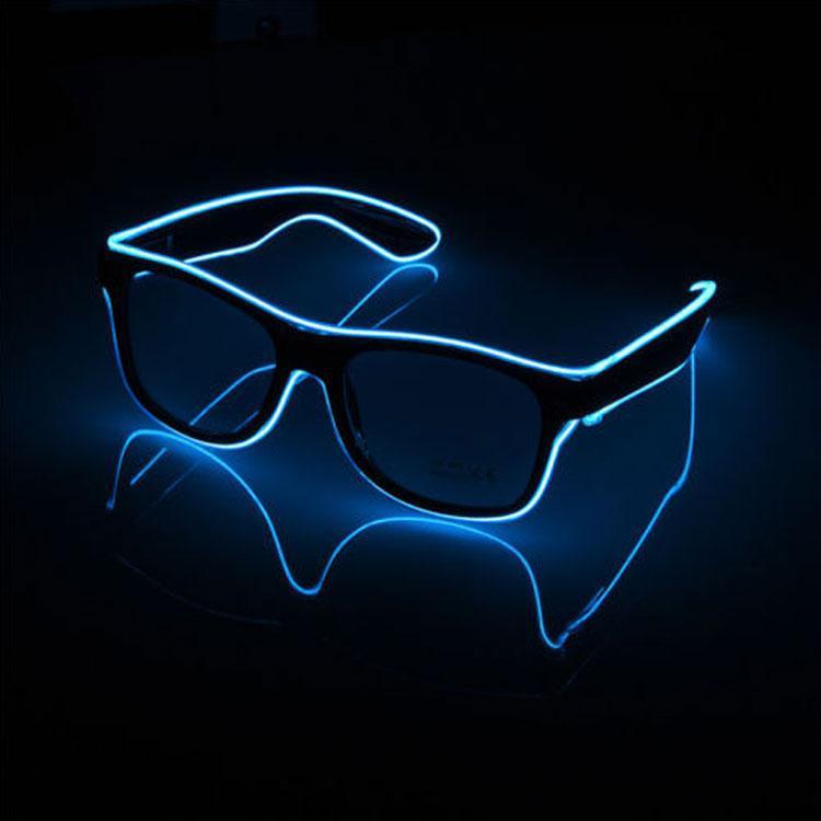 Окуляри світлодіодні прозорі El Neon blue ray неонові
