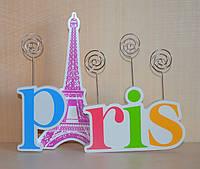 """Оригінальна підставка для фотографій """"Paris"""" (дерево)"""