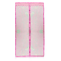 Противомоскитные магнитные шторы на магнитах 90210 Magic Mesh розовые 149818