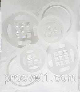Современная светодиодная люстра с поочередным включением трех режимов и пультом. Люстра 6011/6 130W WT Л.С.