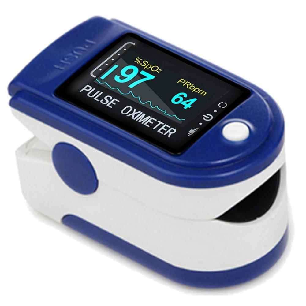Пульсоксиметр на палец пульсометр Finger Pulse Oximeter LK 87 183296