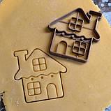 Новогодняя 3D формочка Домик   Новогодняя вырубка   Вырубка для печенья новогодняя, фото 3