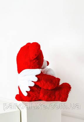 Мягкая игрушка медведь большой плюшевый красный мишка с сердцем и крылышками 150см, фото 3