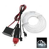 Гнучкий світлодіодний неон LTL для автомобіля 5 метрів DC 12v White, фото 2