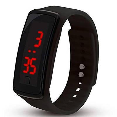 Часы ручные с лед подсветкой Led Watch Smart черные 150950