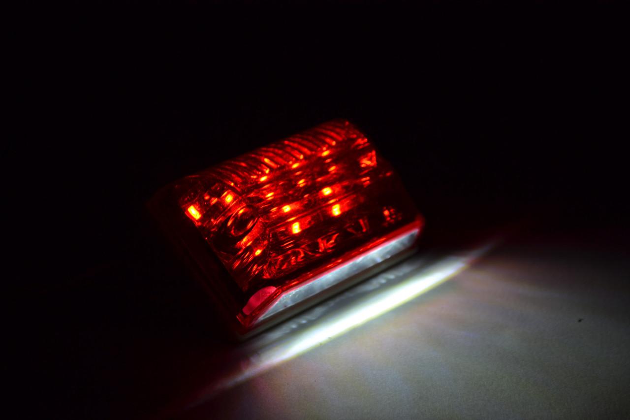 Габаритный LED фонарь SIDE LAMP 24Вольт Красным + подсветка номера