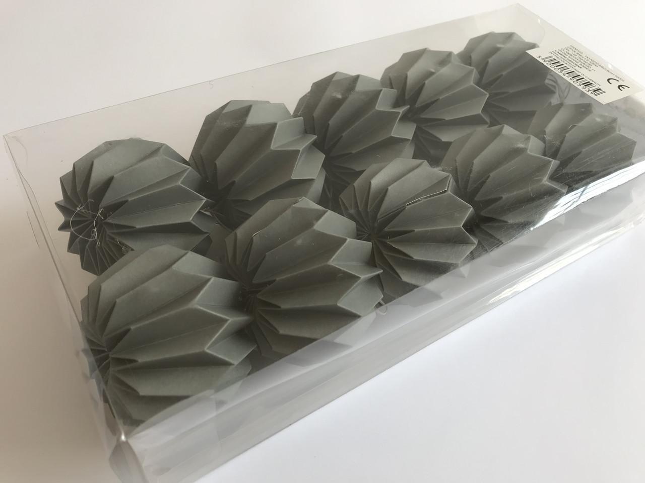 Гірлянда Decorino Dark Paper Balls 10led, діам 7.5 см, довжина 235см на батарейках АА