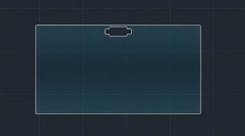 Защитное гибридное стекло на монитор 9H SUZUKI SX 4 2016