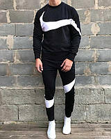 Найк зима 2020 спортивний костюм мужской чорний