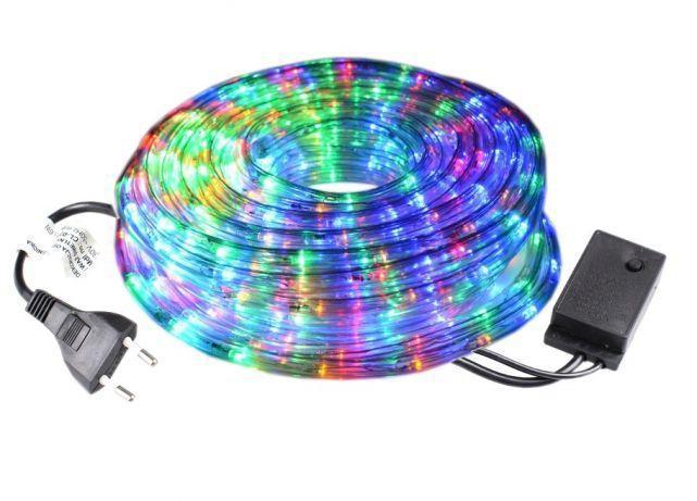 Гірлянда світлодіодний Дюралайт шланг, RGB, круглий, 30 метрів, 8 режимів, 220вт