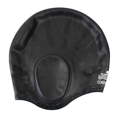 Шапочка для плаванья Conquest черная 150054