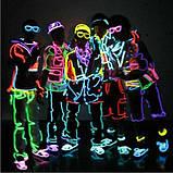 Гнучкий світлодіодний неон Фіолетовий Neon Glow Light Purple - 3 метра стрічки на батарейках 2 AA, фото 8