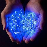 Світлодіодна гірлянда нитка 10м 100led від розетки 220Вт блакитна Blue, фото 2