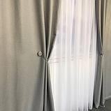 Солнцезащитные шторы | Шторы из мешковины | Готовые шторы из льна | 100% защита от солнца | Серые шторы |, фото 3