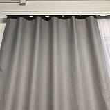 Солнцезащитные шторы | Шторы из мешковины | Готовые шторы из льна | 100% защита от солнца | Серые шторы |, фото 4
