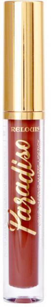 Рідка помада для губ матова стійка Relouis Paradiso № 08 Teddy Bear 3,5 м