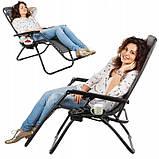 Шезлонг, крісло пляжне Zero Gravity, фото 2