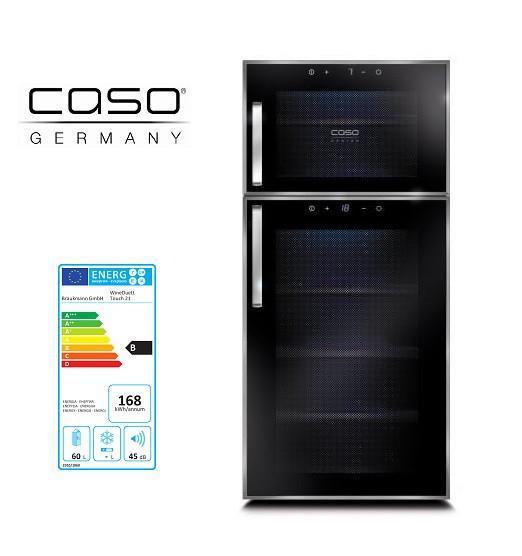 Винний холодильник шафа CASO WineDuett Touch 21