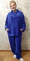 Теплая махровая женская пижама/домашний костюм 42-44-46-48-50-52-54-56, рассрочка, доставка по Украине