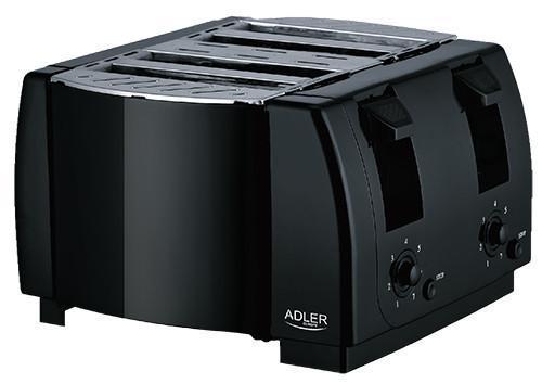 Тостер Adler AD 3211 на 4 скибочки, потужність 1300Вт