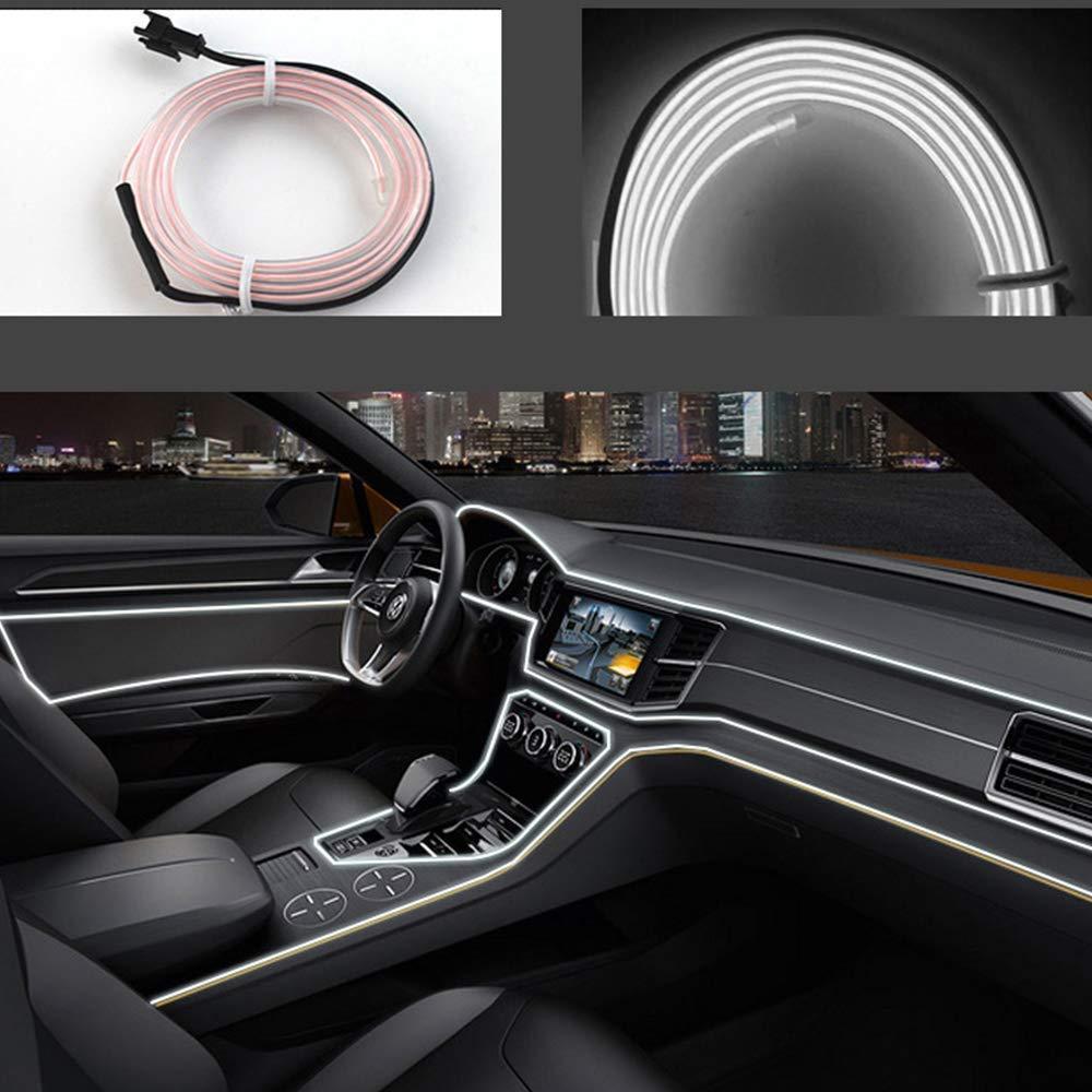 Гнучкий світлодіодний неон LTL для автомобіля 5 метрів DC 12v White