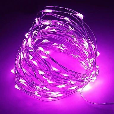 Світлодіодна гірлянда LTL Крапля роси довжина 10м 100led Фіолетова Purple батарейки
